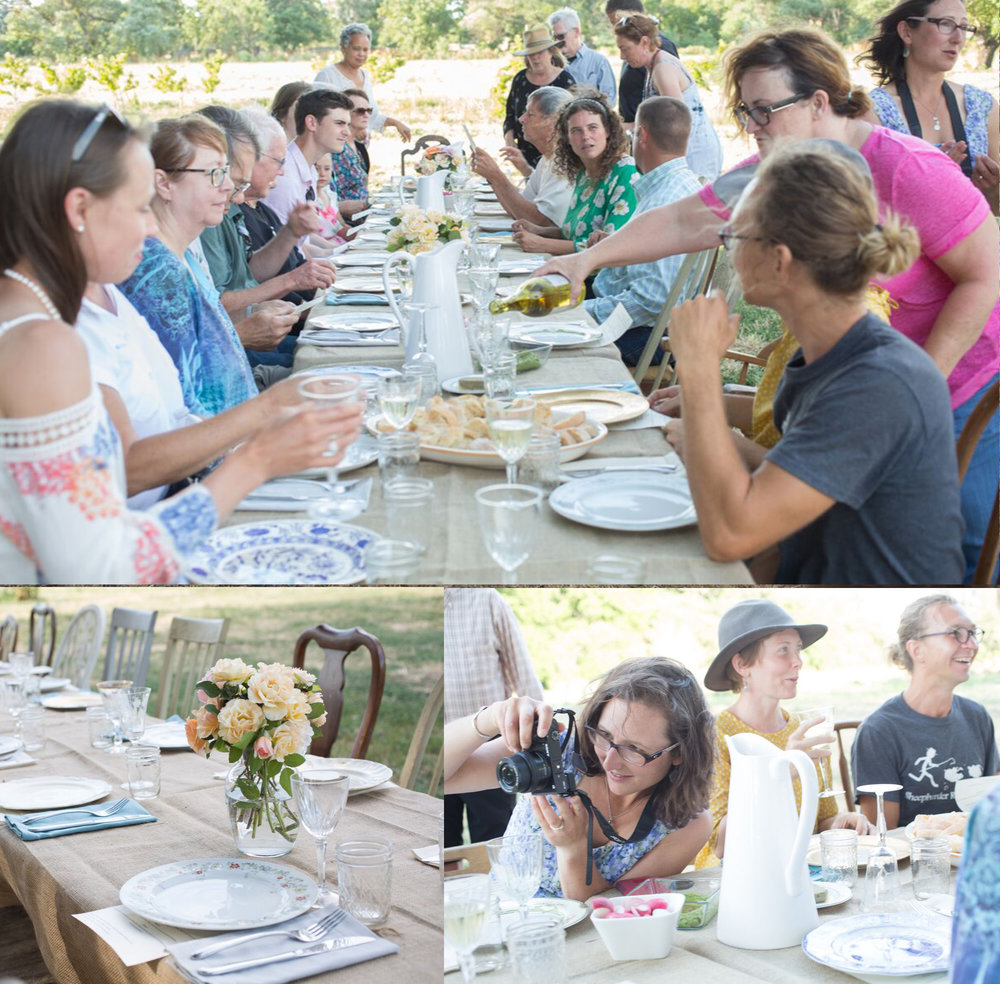 Co-host Abbey Smith couldn't take enough photos of the gorgeous farm to table setting