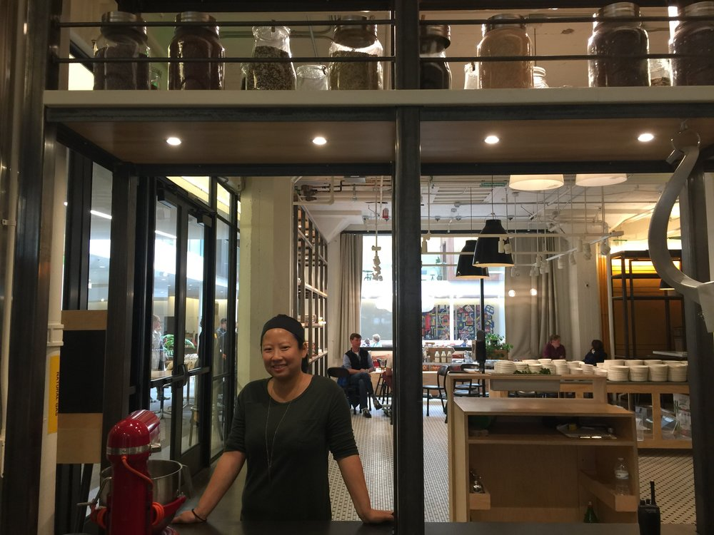 In the Airbnb kitchen with executive chef, Jenny Le