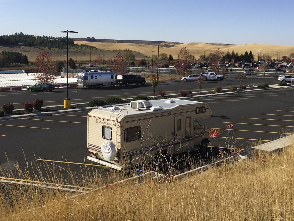 The lovely view from the Moscow (Idaho) Walmart.