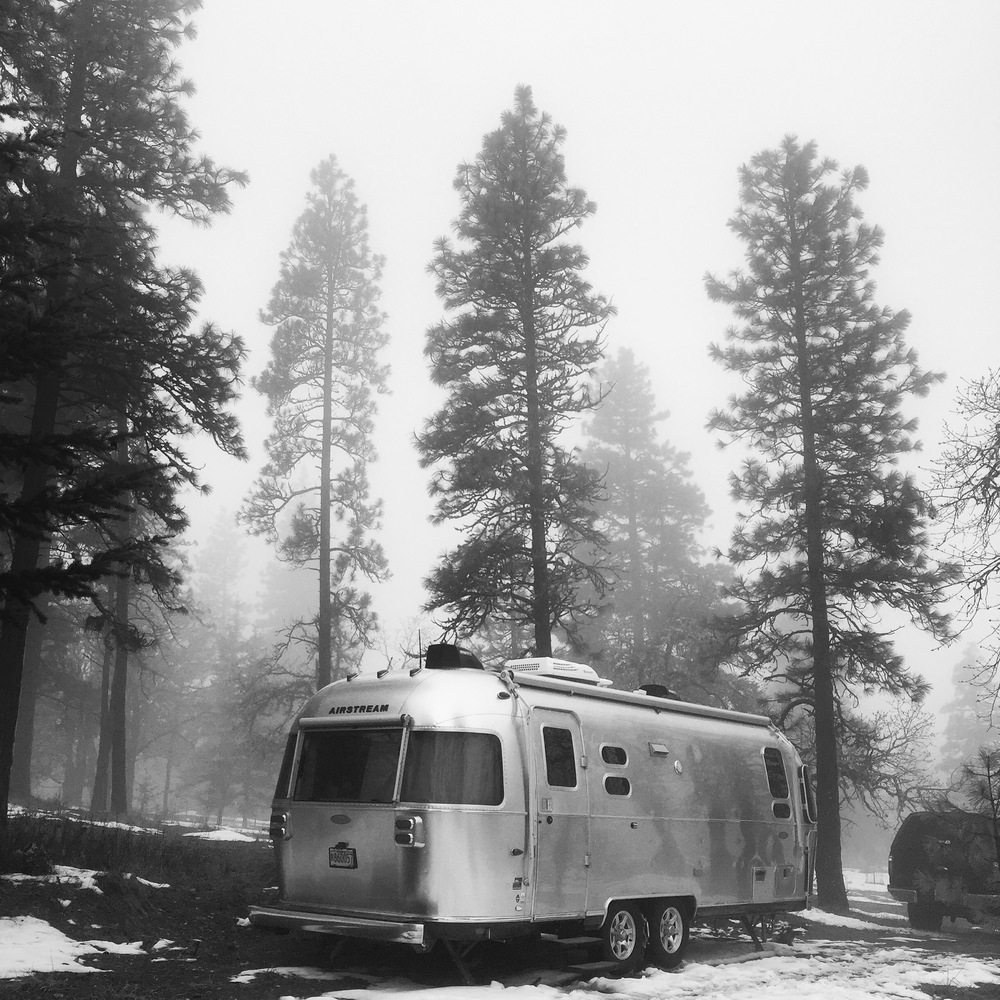 Airstream in the mists of Mosier