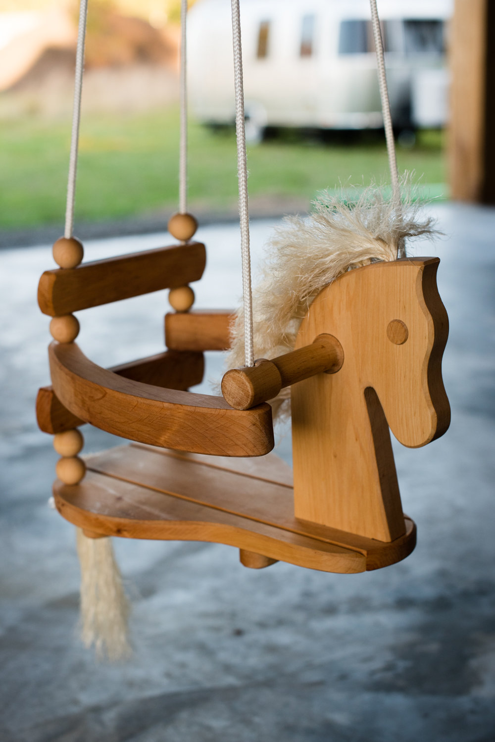 The sweetest rocking horse hanging out in the new barn.