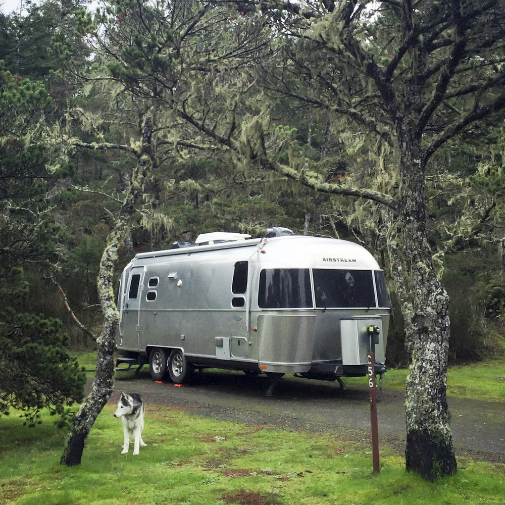 Our awesome spot at Bullard's Beach State Park in Bandon, OR.  ( iPhone )