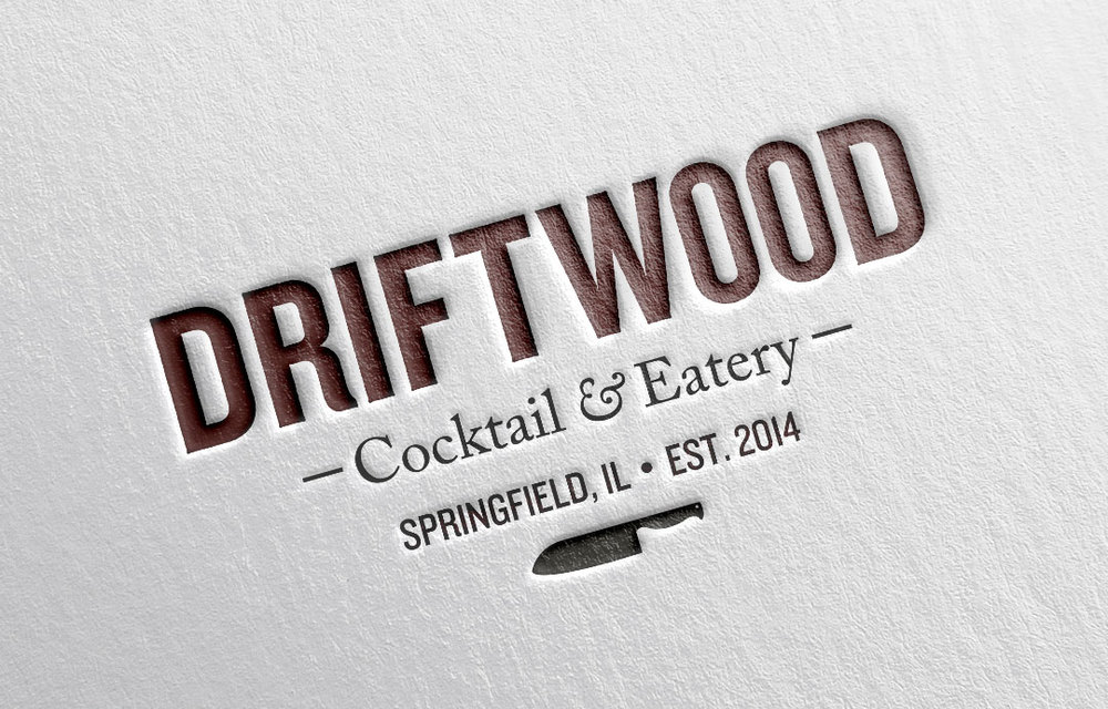 The Two Were Combined To Form Logo For Driftwood Cocktail Eatery A Farm Table Restaurant In Springfield IL