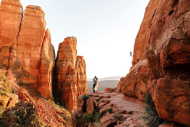 Sarah & Devon's engagement session in Sedona was unreal. My new favorite spot! Worth every step of the climb.