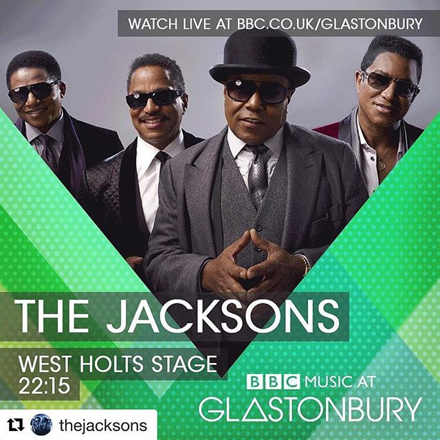 #Repost @thejacksons (@get_repost) ・・・ You can bet the farm we're bringing the funk to Glastonbury this year! Tune in online (UK only) this Saturday night June 24th & watch LIVE at www.bbc.co.uk/Glastonbury