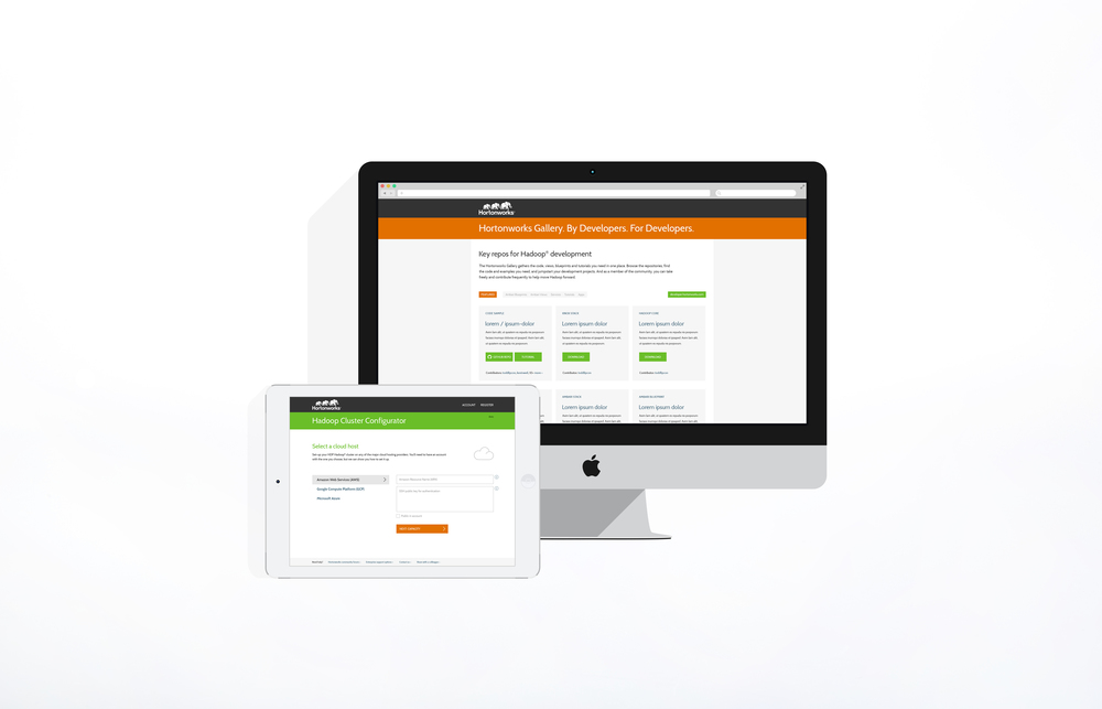 Developer Resources   Site / app comps   Client: Hortonworks