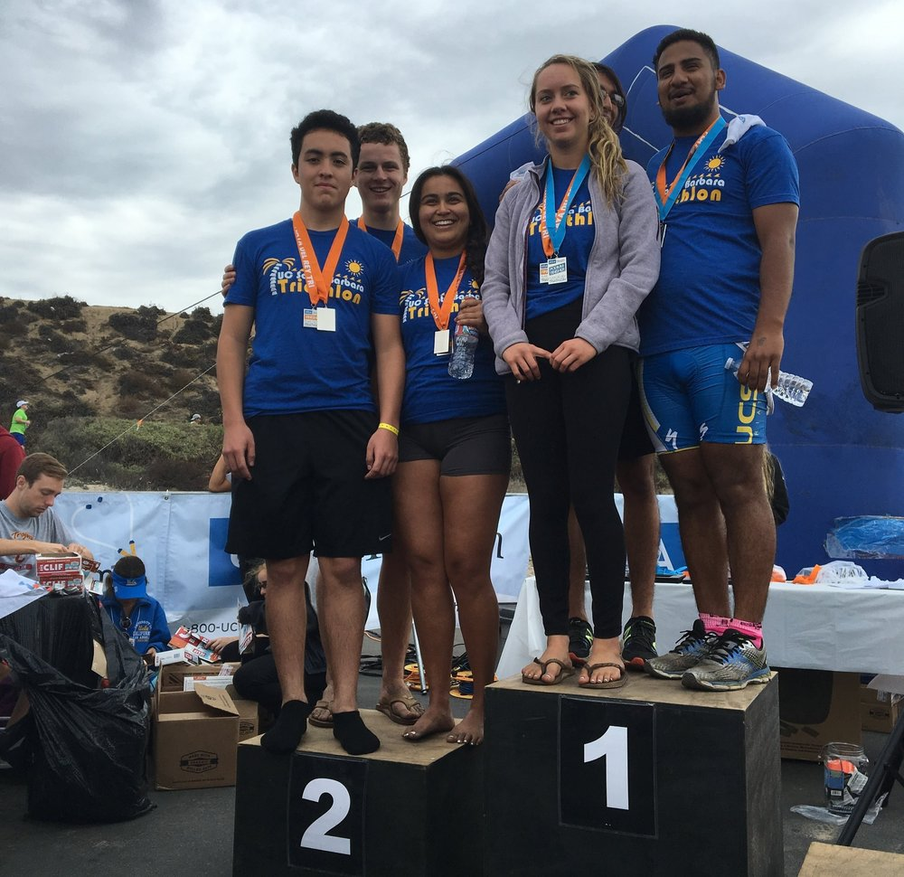 UCSB Tri well represented on the sprint relay podium