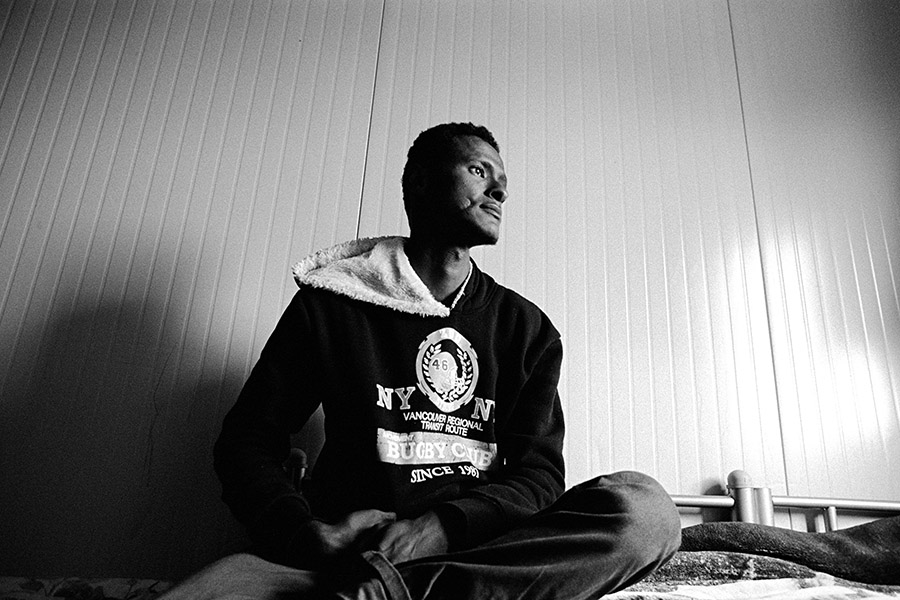 This man is originally from Somalia.  He fled war and took a boat to Europe.  His boat was stopped in Malta.  Somalia rejected him as a citizen of Somalia and Malta has rejected his claim to asylum so he is now stateless and has no where to go.