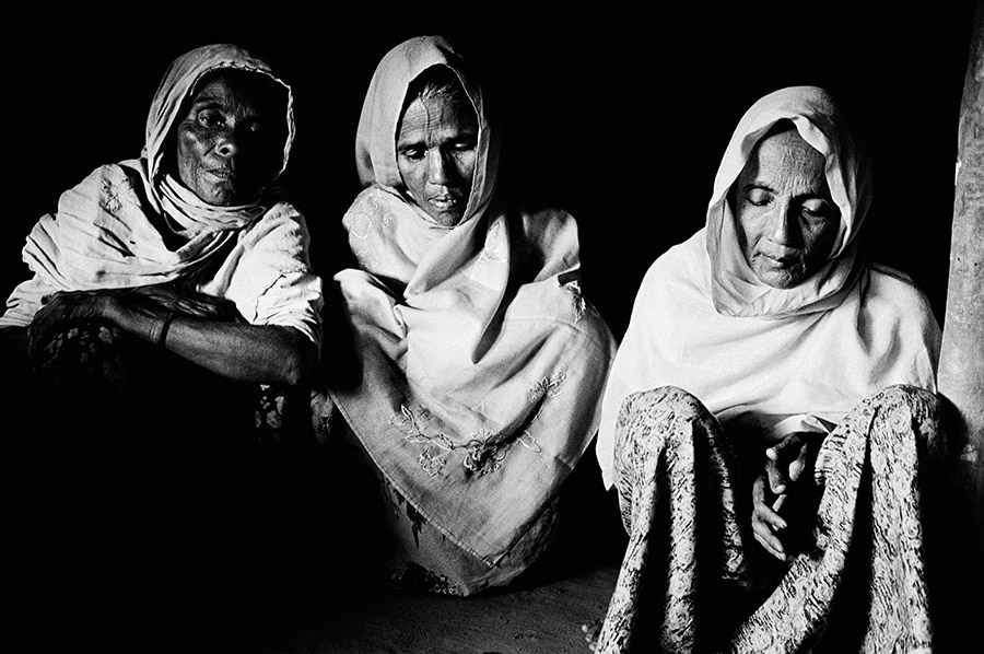 The Rohingya community in Myanmar have been denied nationality in Myanmar since 1982.  The 1982 Citizenship law intentionally excluded the Rohingya as a recognized ethnic group in Myanmar. Over 1,000,000 Rohingya are stateless in Myanmar. These woman and there entire village were forced to flee their village because of human rights abuse.  They left Myanmar and became unrecognized refugees in Bangladesh.