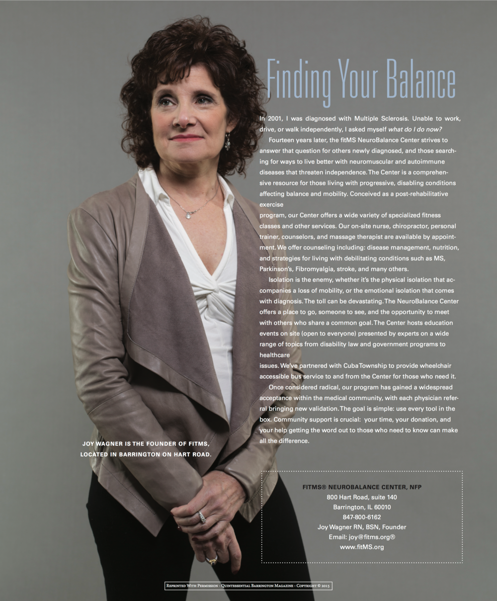 "The NeuroBalance Center was featured in the 2015 ""Faces of Philanthropy"" Issue of Quintessential Barrington Magazine"