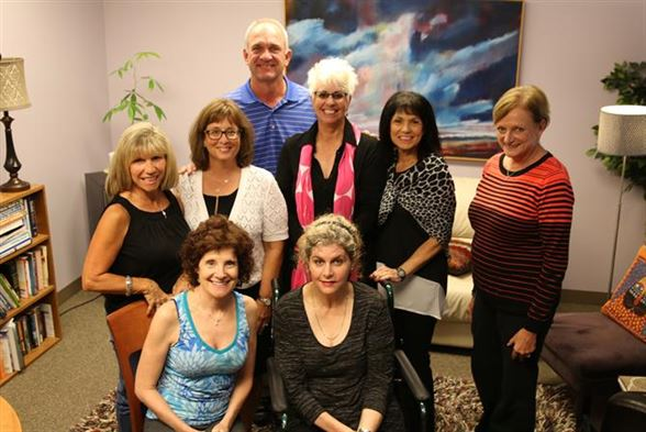 From left to right in the back: Nadia Marchetti, Pam Smith, Jim Sobb, Kim Rinella, Diana Nuzzo and Kathy Goffee. In front Joy Wagner and Tina Sobb