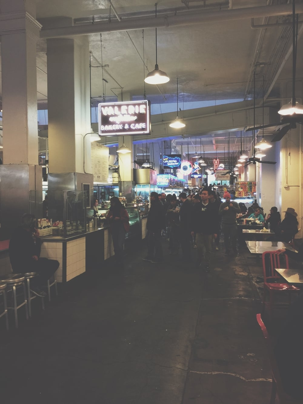 view inside dtla's grand central market