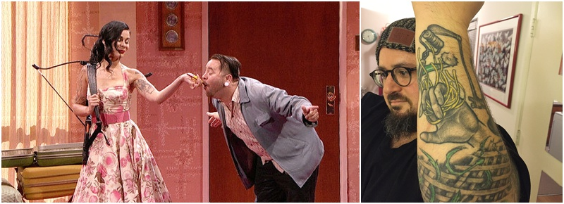 Left: Poutine with Comedy Devil (Episode 21). Right: Baked Ziti with Bruce Kalman (Episode 17).