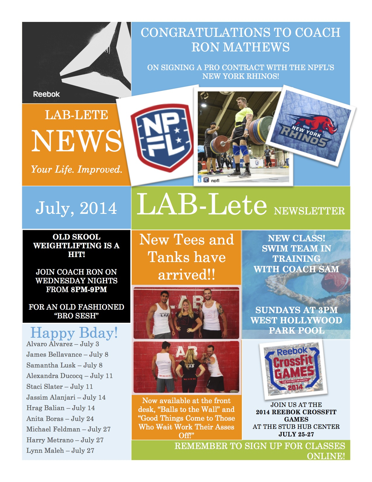 LAB-Lete July Newsletter