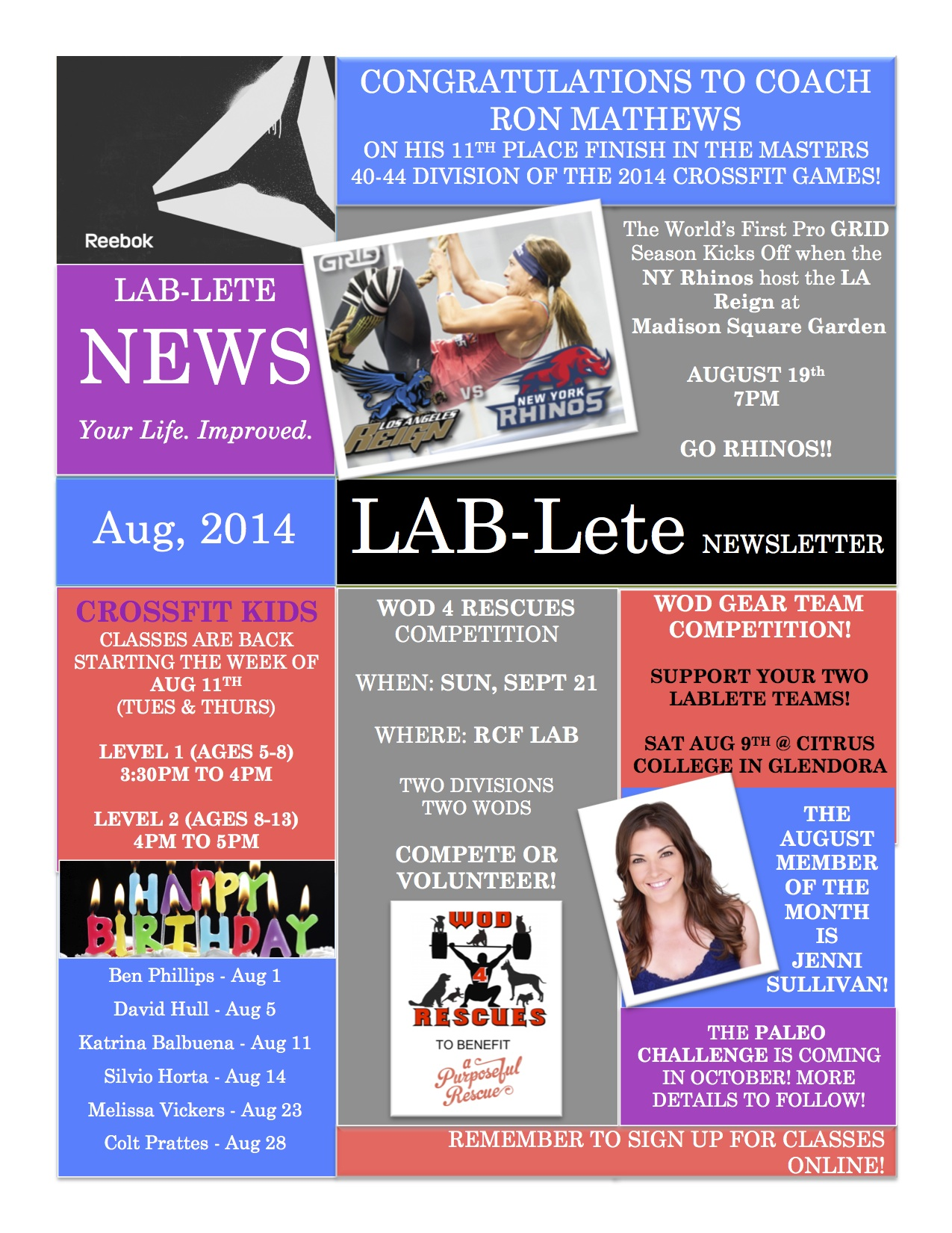LAB-Lete August Newsletter