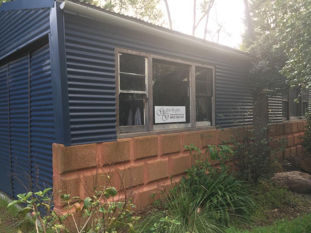 The Studio nestled in the Darlington Bush