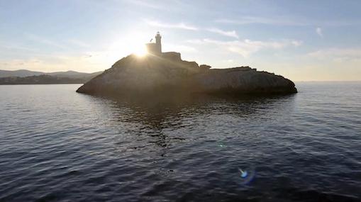 Drone footage of Scoglietto di Portoferraio, Elba, Italy