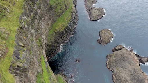 The sheer cliffs of Mykines