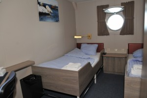 For a berth in a Twin porthole : € 4.800,- per person -
