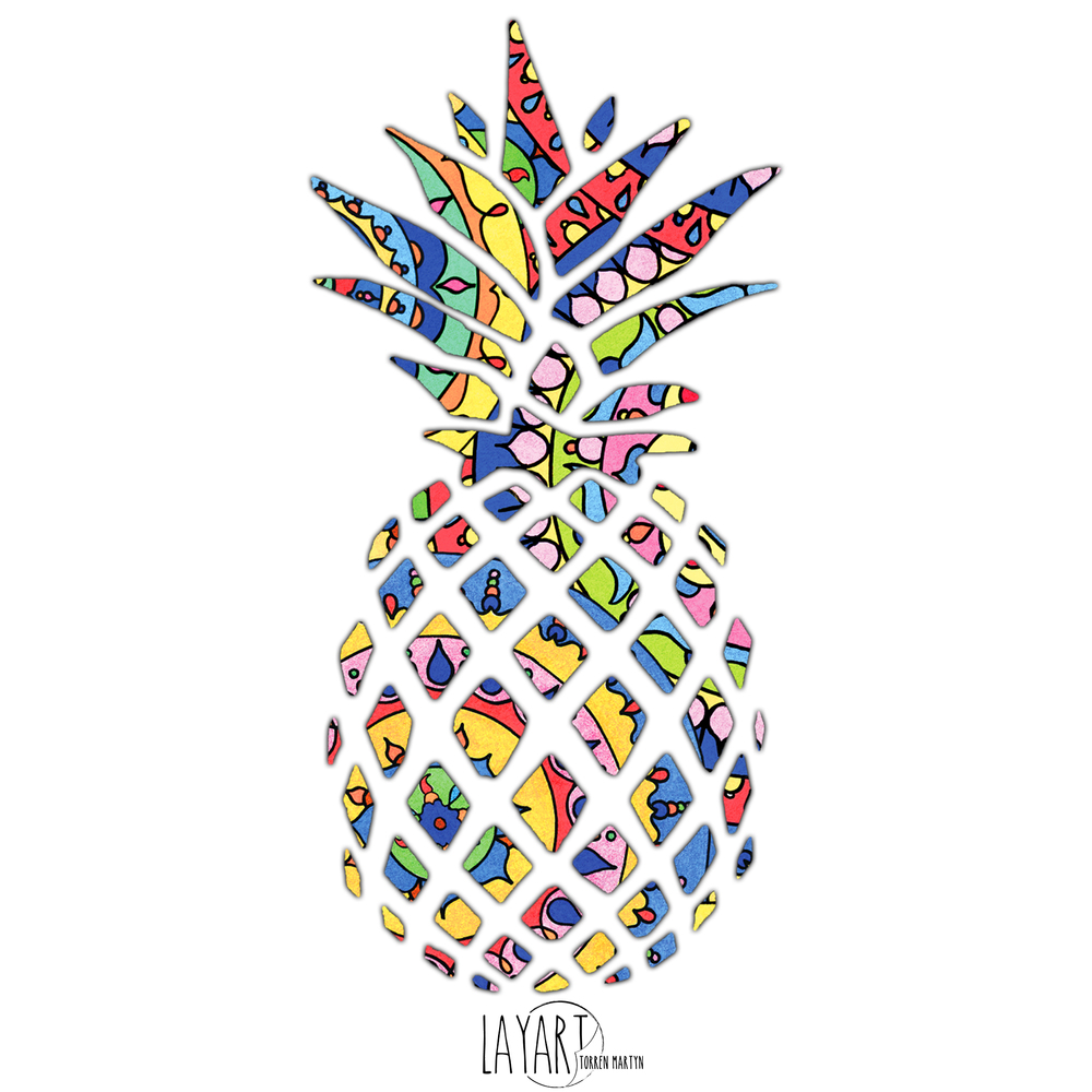 Pineapple Sticker By Torren Martyn