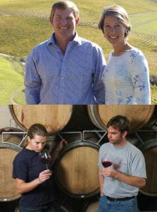 Gary and Kathy Jordan, Jordan Wine Estate (Top) and Nadia & Gordon, Newton Johnson Vineyards (bottom)