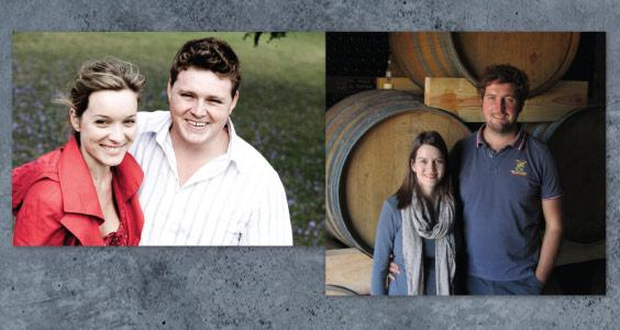 Suzaan & Chris Alheit, Alheit Vineyards (left) and Nadia& David Sadie, David Wines (right)