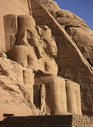 These storeys-high carvings at Abu Simbel had to be cut up and relocated when the Aswan Dam was constructed