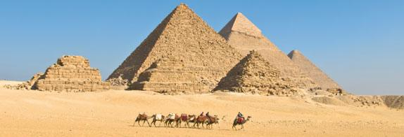 As can be seen at the top of one of these Giza pyramids, the structures were originally smooth, covered with limestone that, in a less respectful era, was removed to build nearby houses