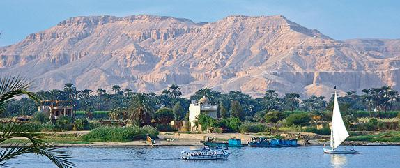The Nile smells of fresh mud and newly irrigated land and there are lush green strips everywhere.