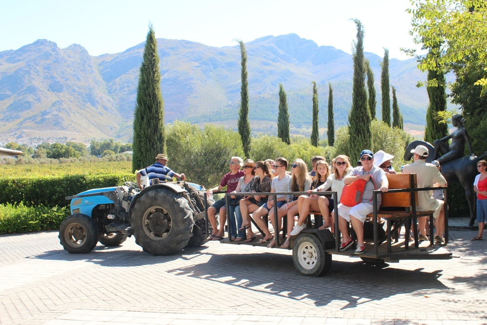 Enjoy a tractor ride at Grande Provence