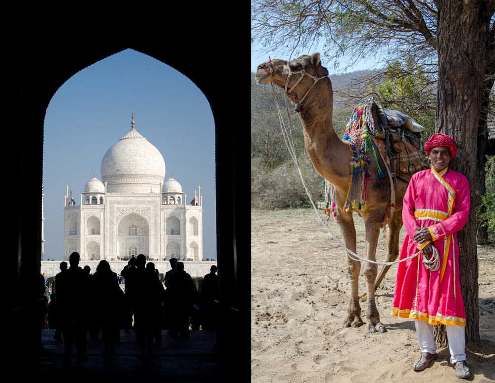 The Taj Mahal and a camel ride in rural Rajasthan