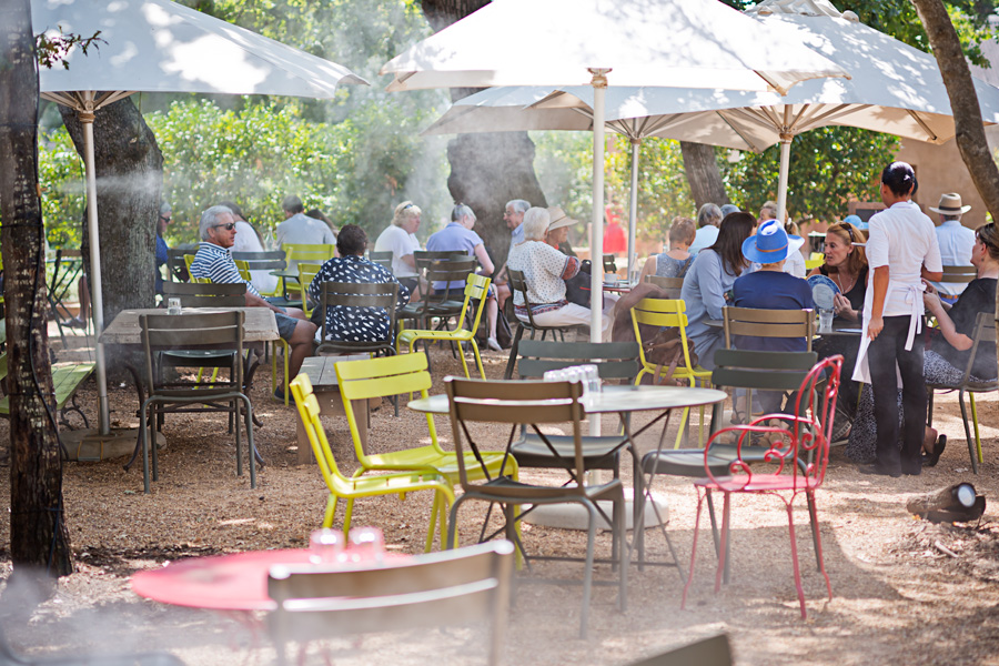 Enjoy fresh fruit and veg from the gardens, at the Greenhouse restaurant