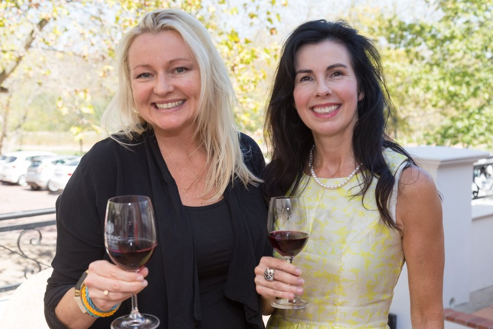 Liza Weschta, Good Taste Magazine, and Kathy Miller, Wine-of-the-Month