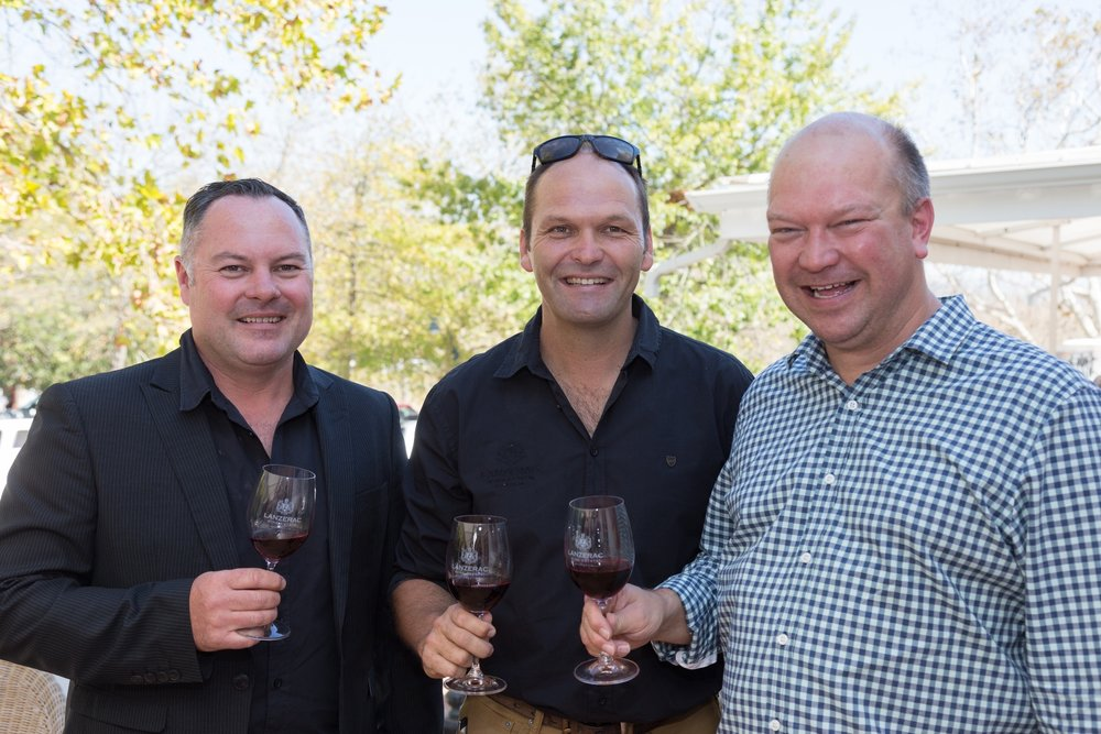 Barend Barnard and Wynand Lategan, Lanzerac, and Etienne Louw, Pinotage Association