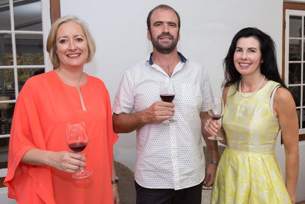 Zelda Furstenburg, Lanzerac, Johan Schwartz, Pilotage Association, and Kathy Miller,Wine-of-the-Month