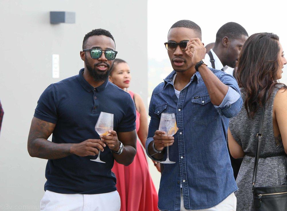 Sazi Ngcobo and Lunga Shabalala