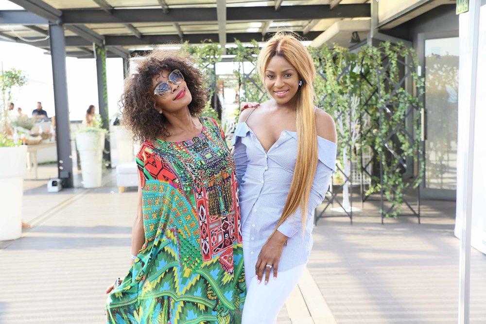 Thembi Seete and Jessica Nkosi