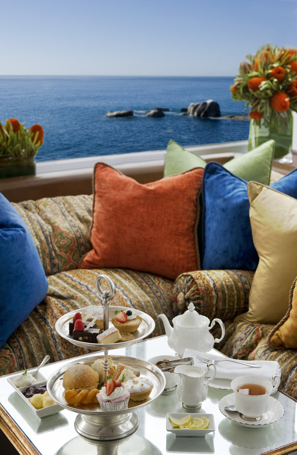 High Tea By The Sea in The Leopard Bar. Image courtesy of Twelve Apostles Hotel & Spa