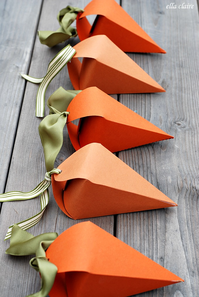 10 darling easter diy ideas good taste these carrot treat boxes make the perfect gift box for easter especially if you have children get the free printable template and tutorial by elle claire negle Choice Image