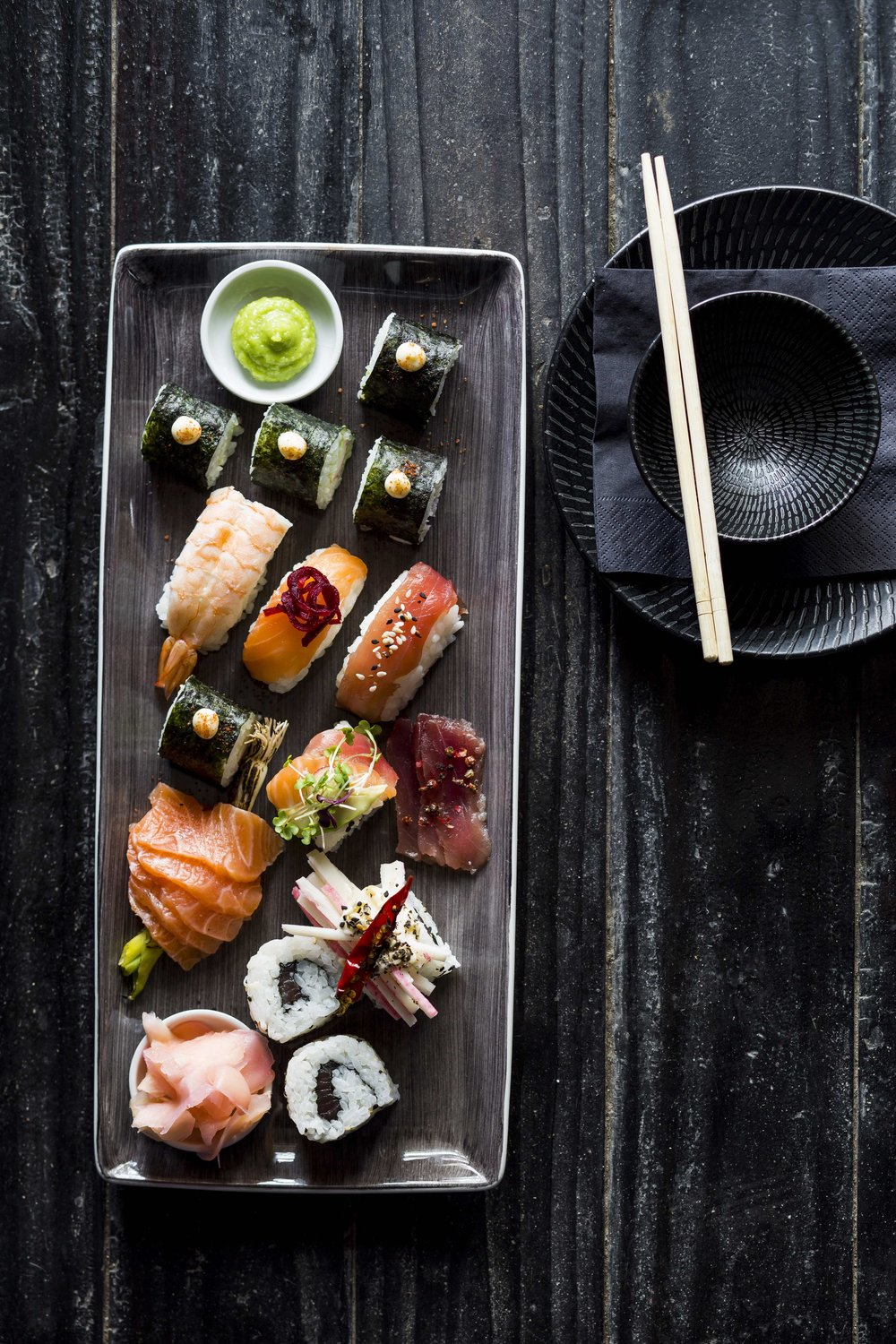 A selection of sushi. Image by Michael le Grange