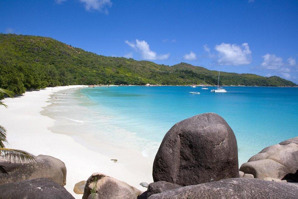 Anse Lazio Beach, Praslin Island. Image courtesy of Seychelles Tourism Board