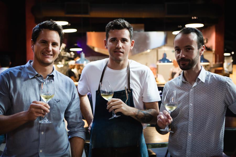 JC Wickens (winemaker of Swerwer Wines), Wesley Randles & Simon Widdison