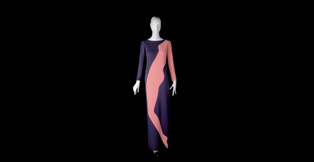 Evening gown. Homage to Tom Wesselmann. Autumn-Winter 1966 haute couture collection.