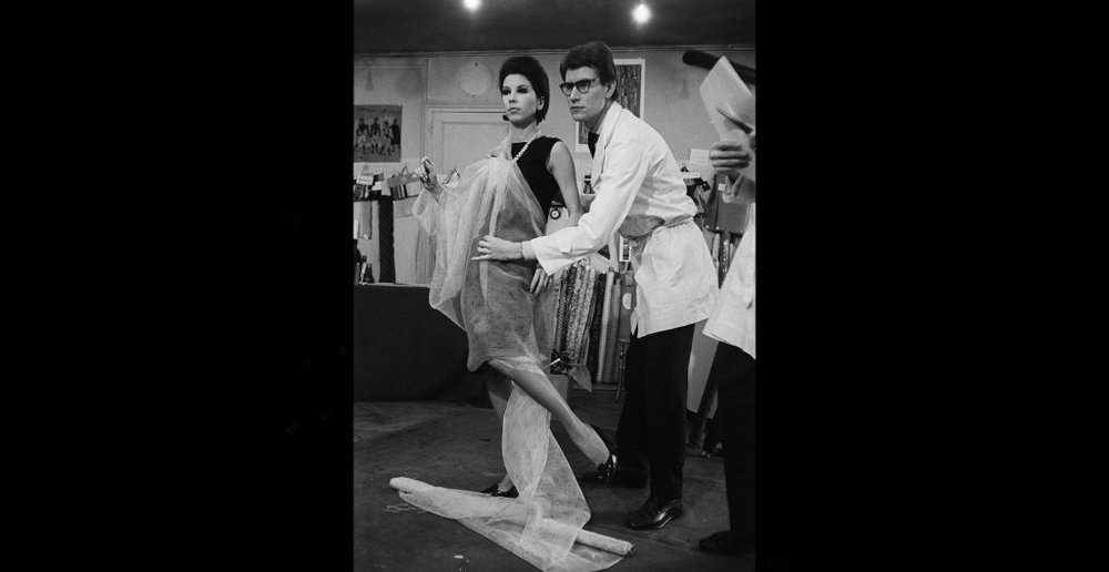 Yves Saint Laurent with Victoire - Preparation of the first collection, December 1961