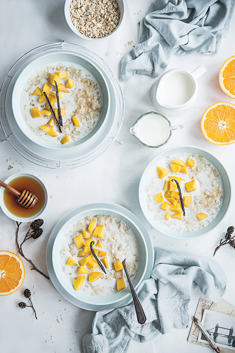 Mango and Orange Porridge