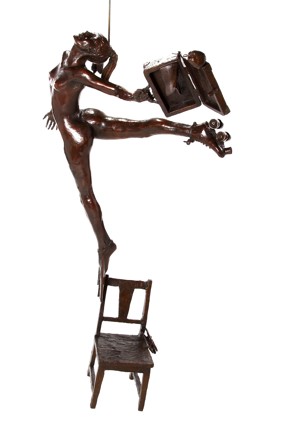 Bronze by Marke Meyer entitled Finding My Feet