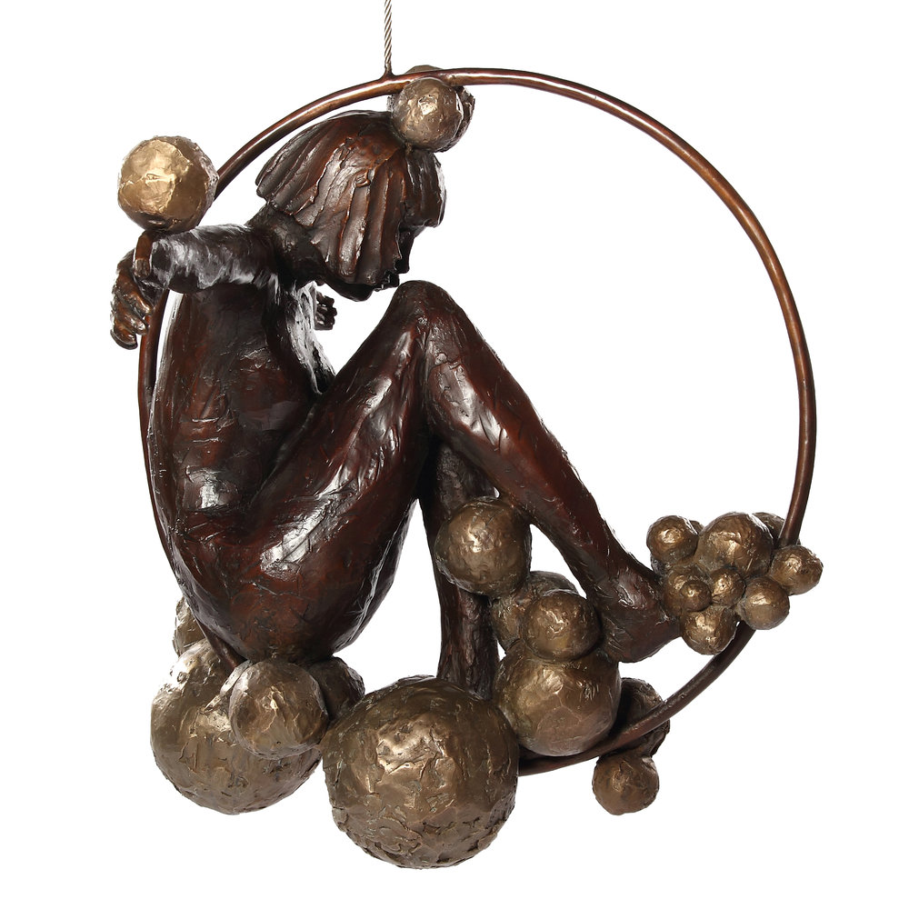 Bronze by Marke Meyer entitled Fragrant Memories of a Wild Moon Drifting