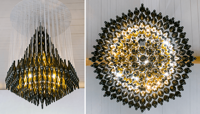 Recycled Chandelier by Heath Nash
