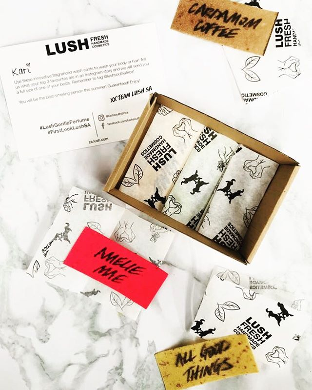 Thank you @lushsouthafrica for our fantastic fragrance wash cards! We're completely obsessed with them 😍 Especially the Cardamon Coffee, Miele Me and All Good Things. Have you tried them? . . . . . . . #lush #lushsouthafrica #washcards #divine #fragrance #lushcosmetics # #cardamom #coffee #freshandhandmade #lushie #lushlife #bodycare #lushessentials #lushxmas2017