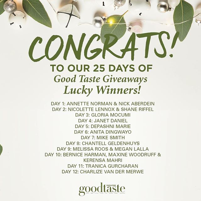 CONGRATULATIONS to all of our lucky winners of our #25DaysofGiveaways! And a big thank you to all who entered. We wish all of our readers a happy holiday and a very Merry Christmas🎄  Make sure to keep an eye out for our other competitions for more exciting #GTwins!